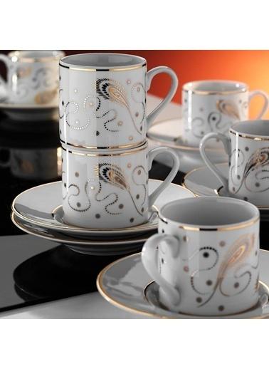 Kütahya Porselen Rüya 6 Kişilik 12 P. 7050 Kahve Fincan Tk. Kahve